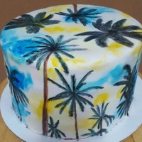 Hand Painted Palm Tree Cake I made this for my sister's birthday cake. She LOVES palm trees! I saw an image on Pinterest months and months ago that inspired...