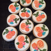 Rifle Paper Co. Inspired Cookies NFSC with MMF in a Rifle Paper Co inspired theme for a bridesmaids luncheon