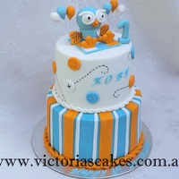 Giggle And Hoot 1St Birthday Cake For more pictures visit my Facebook page https://www.facebook.com/victoriascakes.com.au