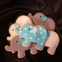 Sweet Lil Elephants   These cookies were done for a baby shower. TFL