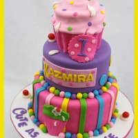 Cute As A Cupcake Cake This was a cake that I made for my best friends niece, this is not my original design but I loved remaking it. Very cute idea.