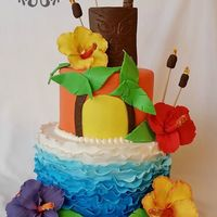 Hawaiian Beach Cake Make-A-Wish® North Texas called me for a Hawaiian themed cake for a wish reveal party - the girl's wish was to go to Hawaii....
