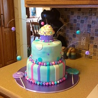 Birthday Cake. I made this cake for my niece. It's a vanilla cake with raspberry filling.