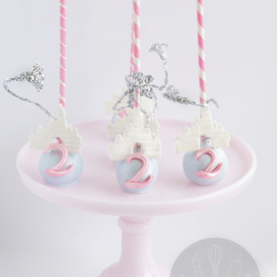 Princess Castle Cake Pops