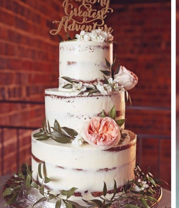 Naked Birch 3Tier Wedding Cake
