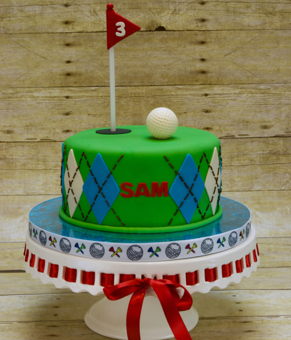 3Rd Hole Golf Birthday Cake