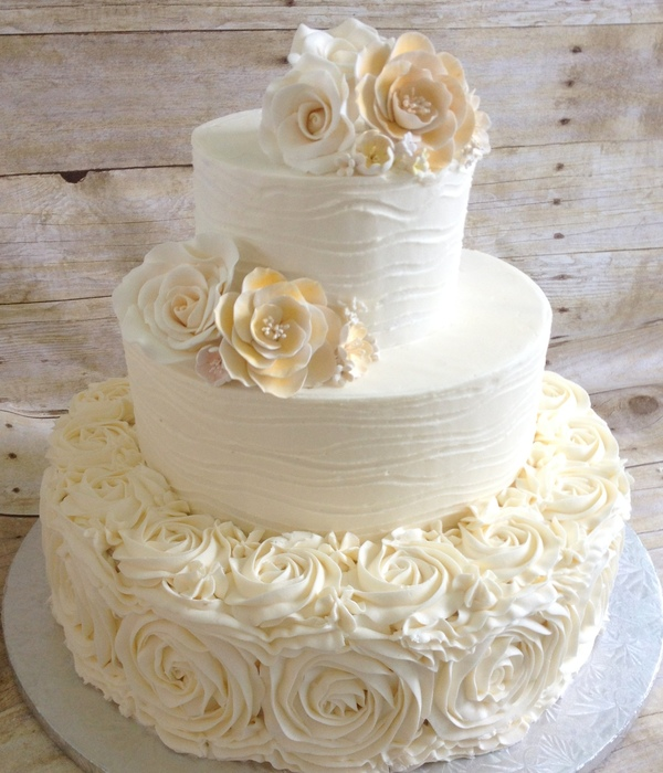 Buttercream Textured And Rosettes