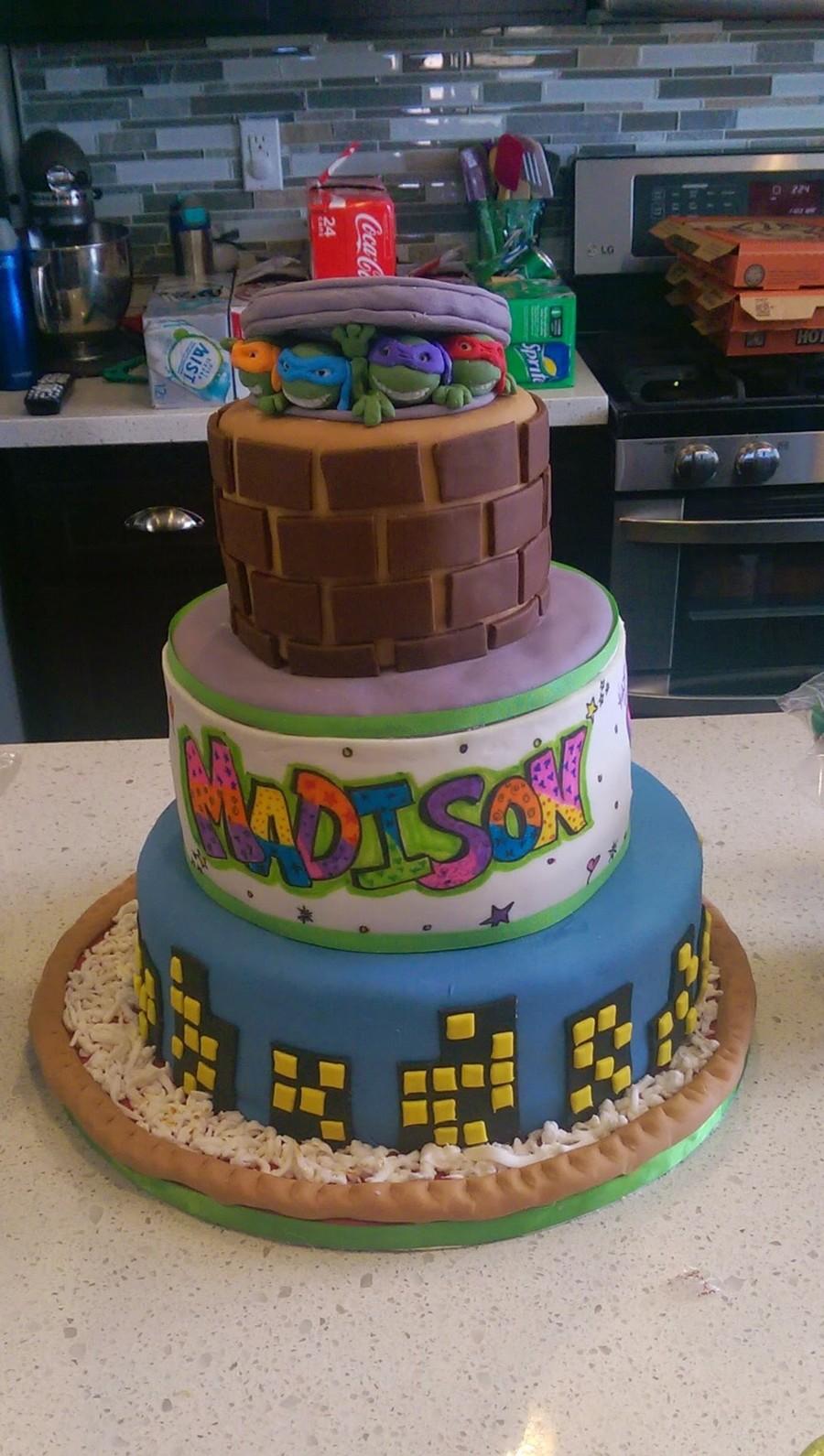 Teenage Mutant Ninja Turtle Cake CakeCentralcom