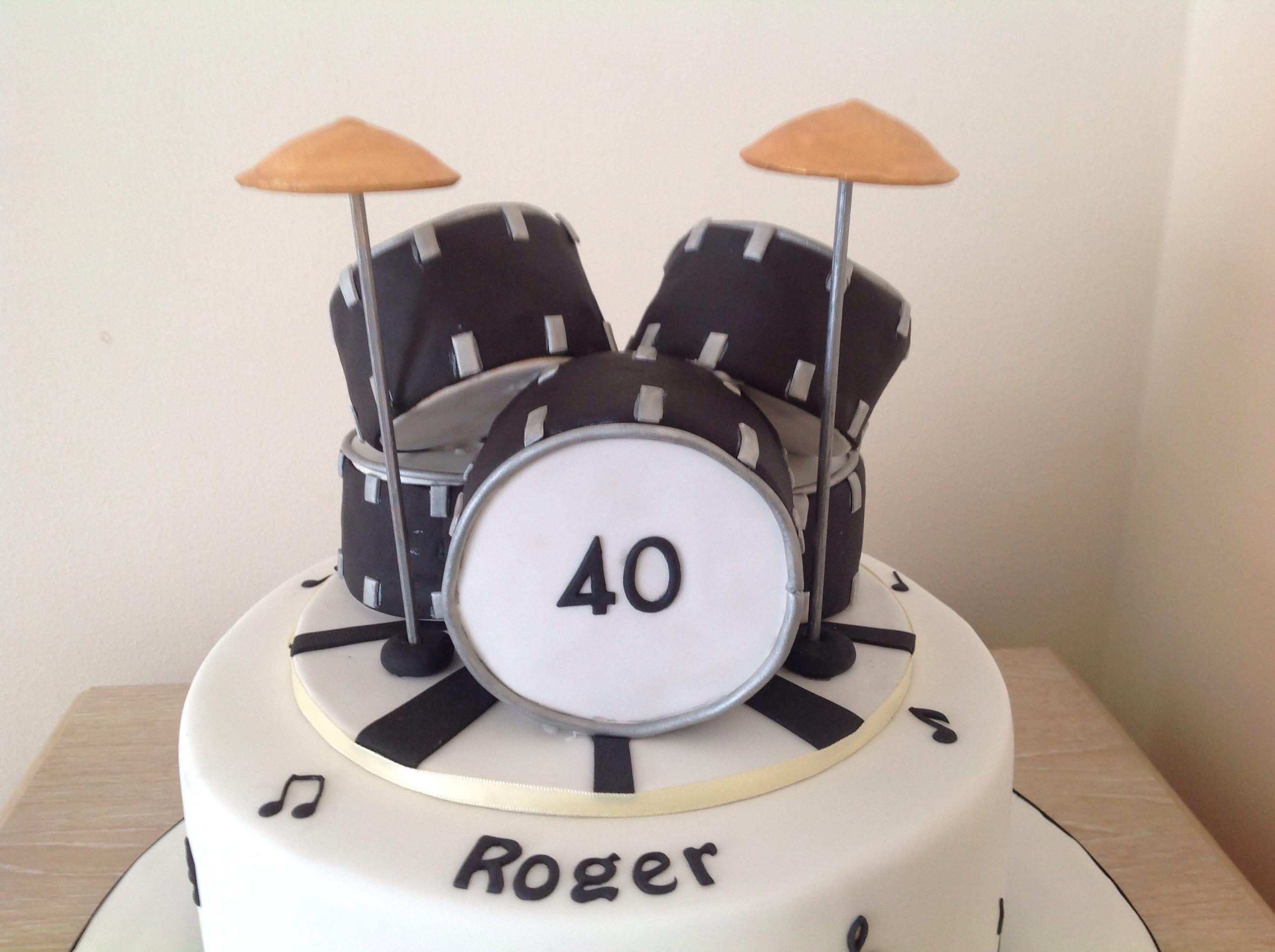 Marvelous Drum Kit Cake Cakecentral Com Funny Birthday Cards Online Aboleapandamsfinfo