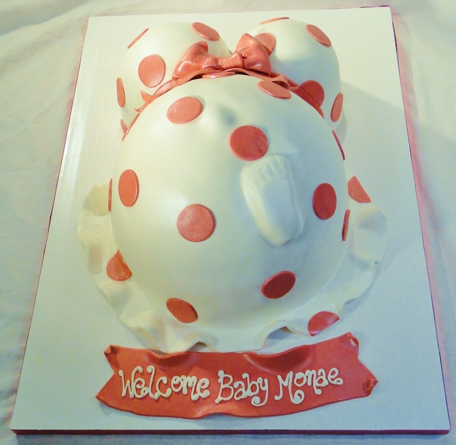 Fondant Baby Bump With Foot on Cake Central