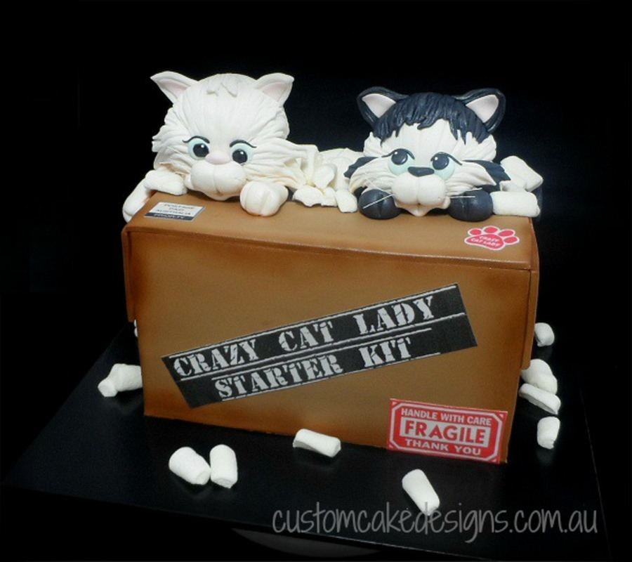 Crazy Cat Lady Starter Kit Cake - CakeCentral.com