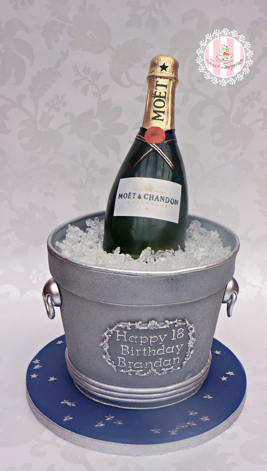 How To Make A Champagne Bottle Birthday Cake