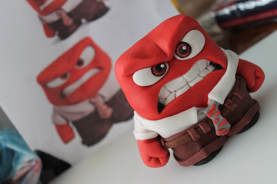 Disney's Inside Out Anger Character Cake Topper!