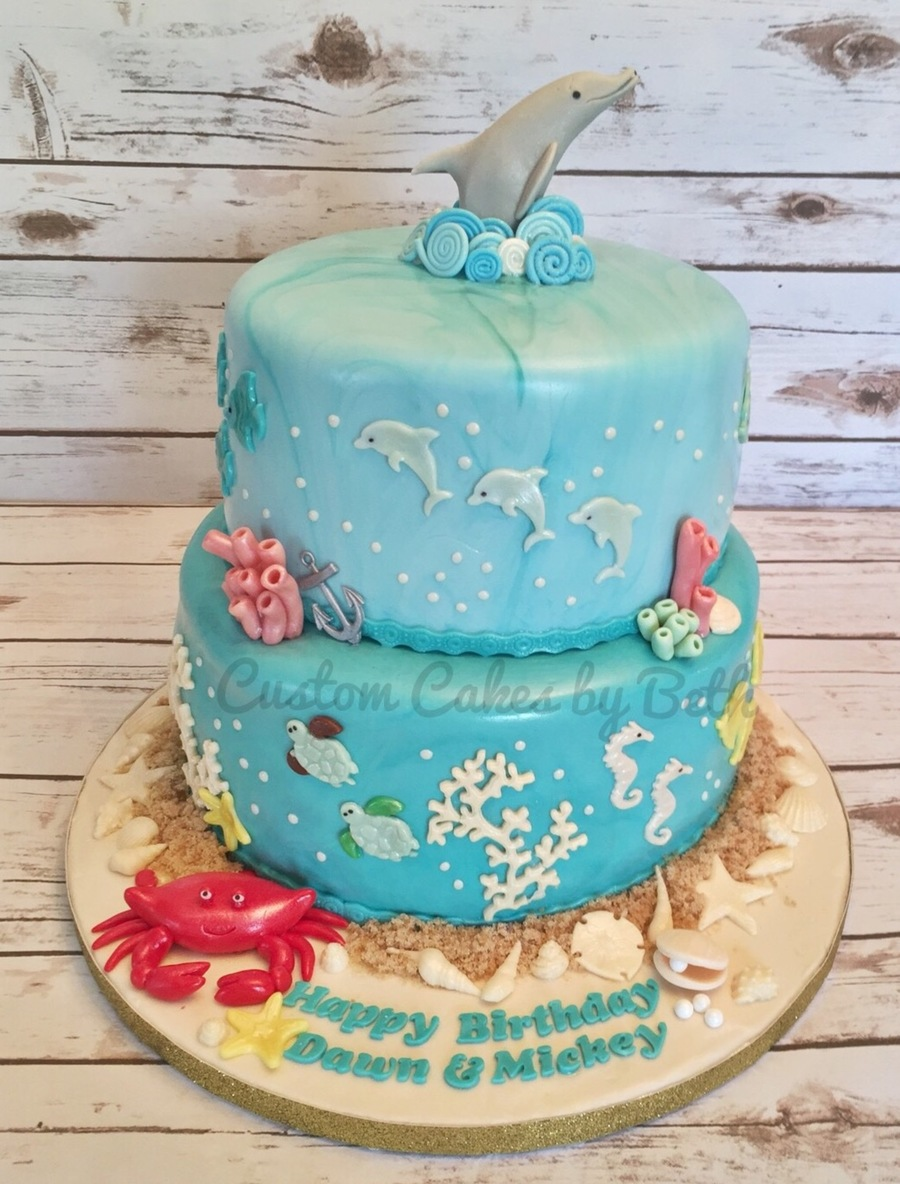 Dolphin Crab Birthday Cake Cakecentral