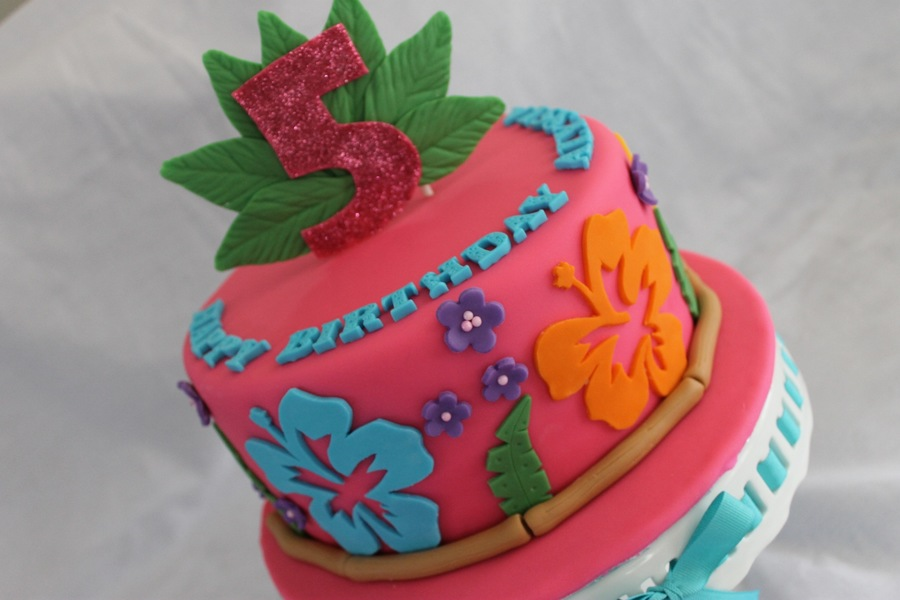 Hawaiian Themed Birthday Cake Cakecentral