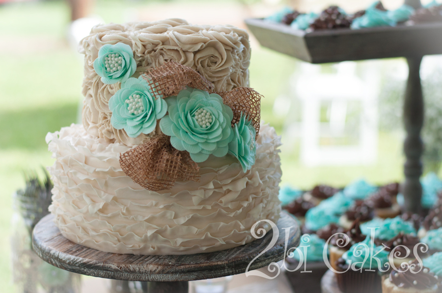Shabby Chic Wedding Cake By 2Bi Cakes - CakeCentral.com