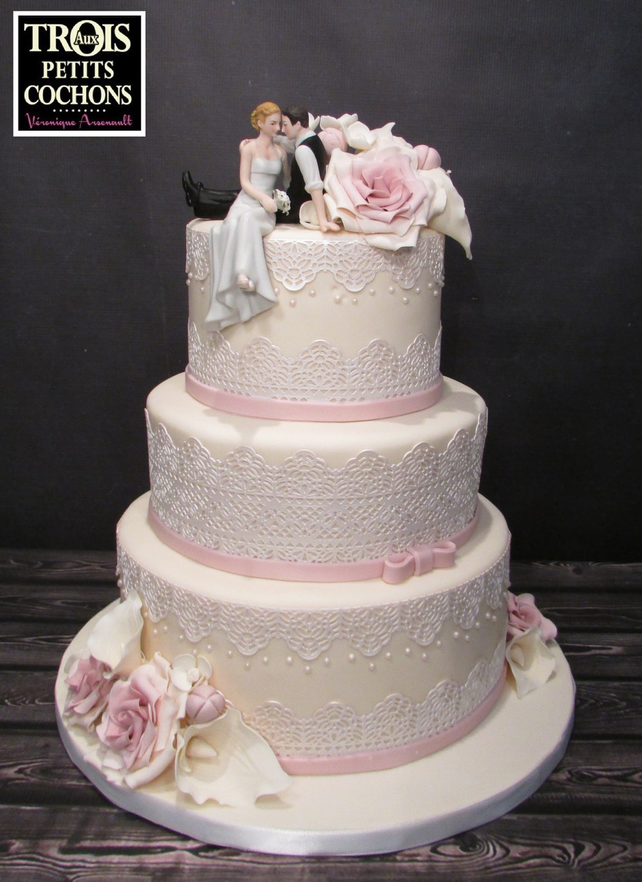 Romance Wedding Cake on Cake Central