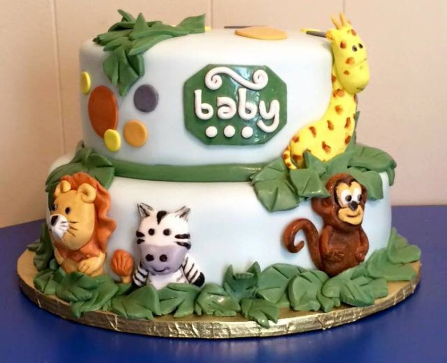 Jungle Animal Baby Shower Cakecentral