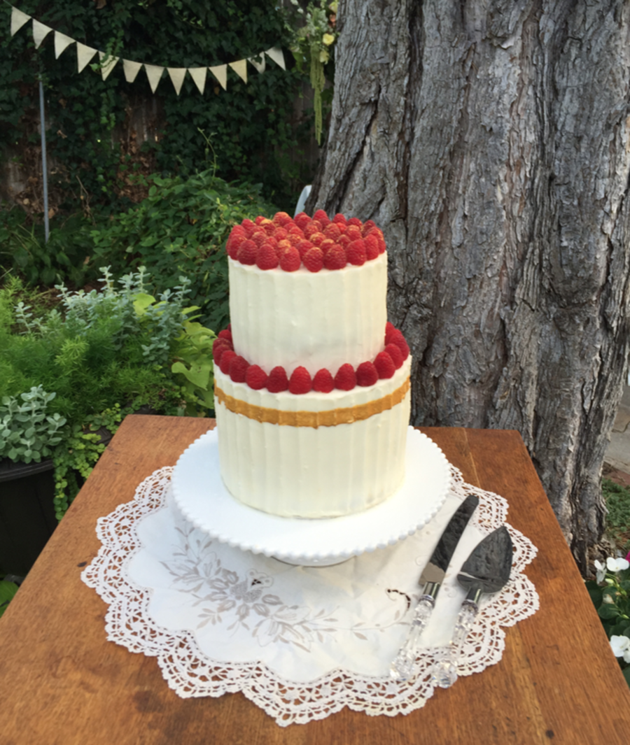 Gilded Berry Wedding Cake on Cake Central