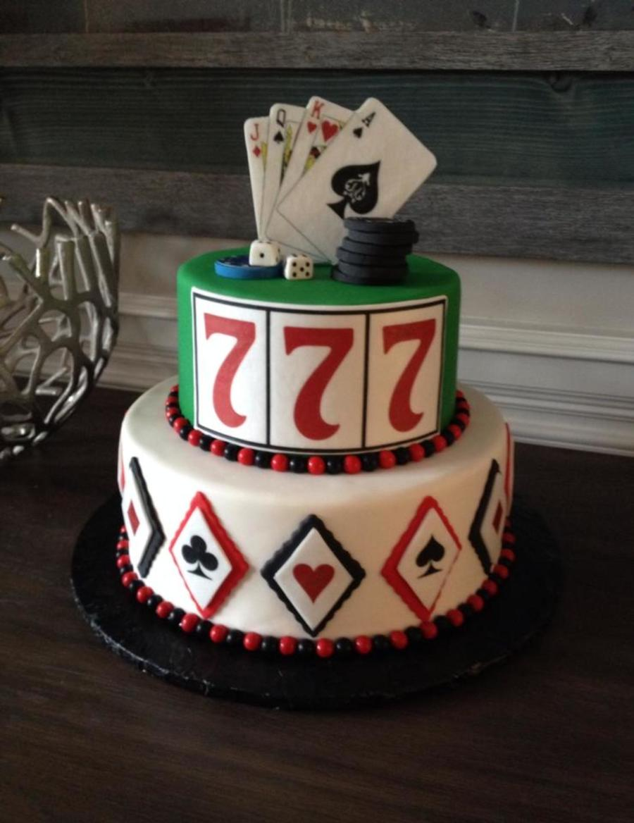 Birthday Cake Images Poker Themed