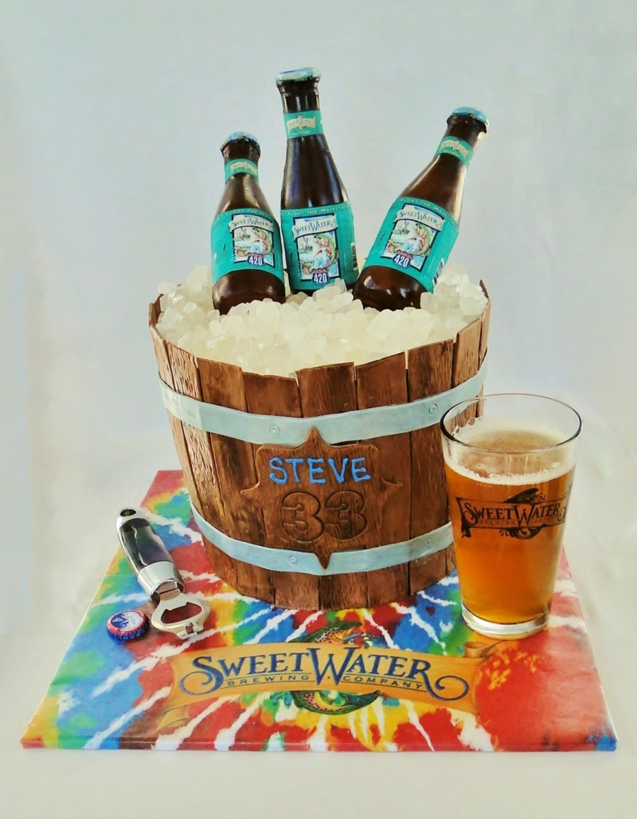 Sweetwater 420 Beer Bucket Cake on Cake Central