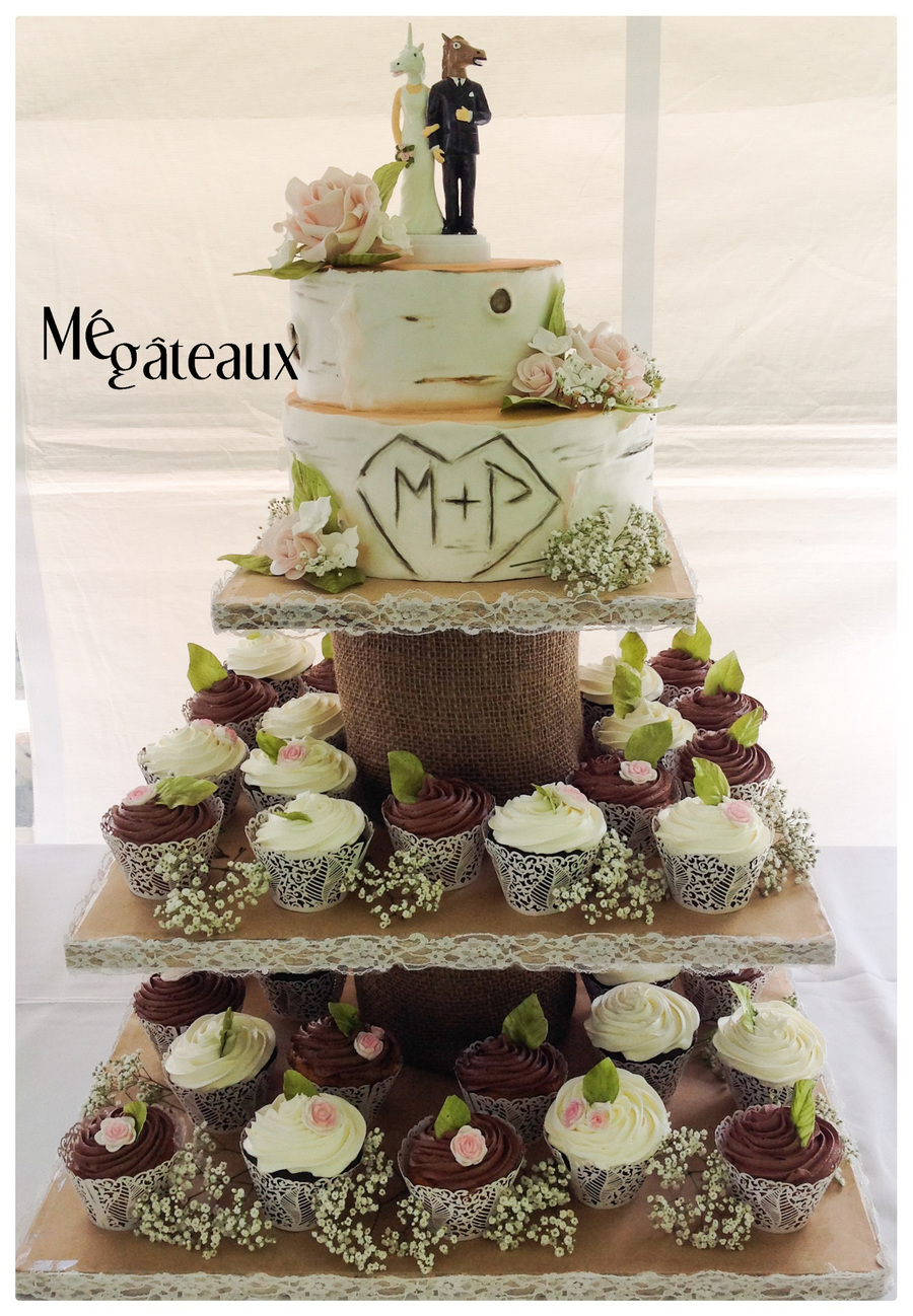 Rustic Cupcakes Wedding on Cake Central