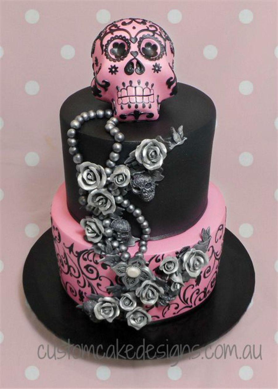 Sugar Skull 21st Cake Cakecentral Com