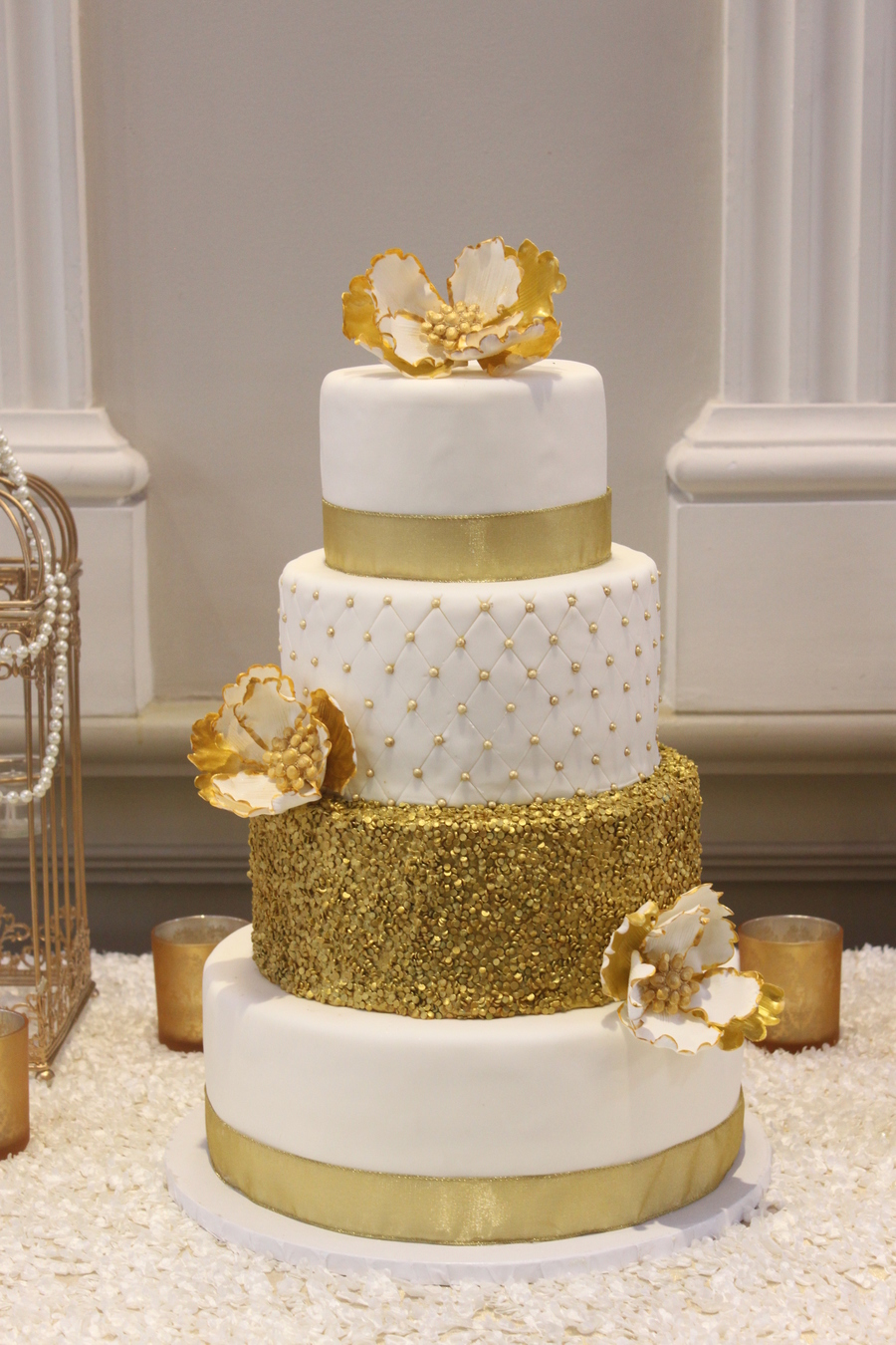 white and gold wedding cake images gold wedding cake cakecentral 27206