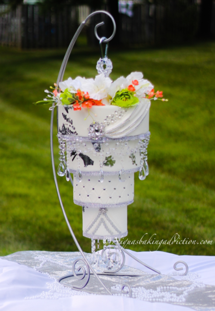 Chandelier Wedding Cake Cakecentral Com