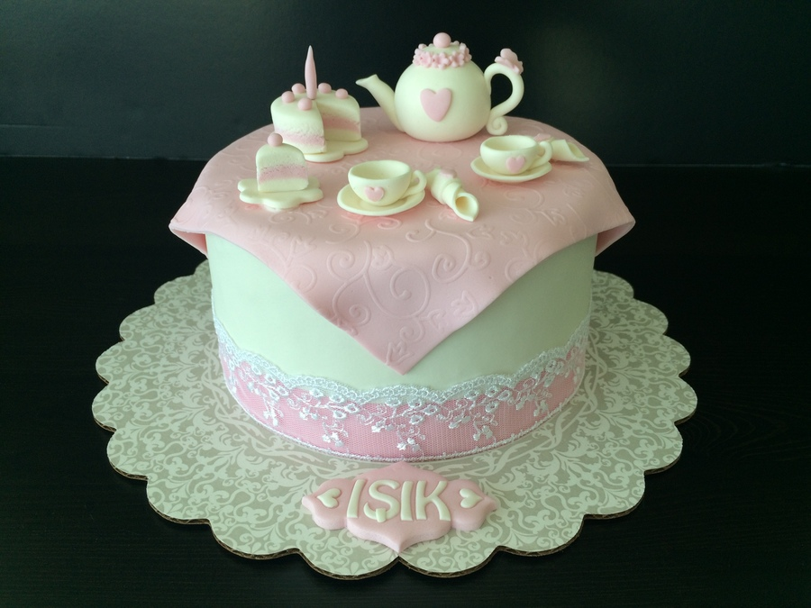 Astounding Teapot Birthday Cake Cakecentral Com Personalised Birthday Cards Cominlily Jamesorg