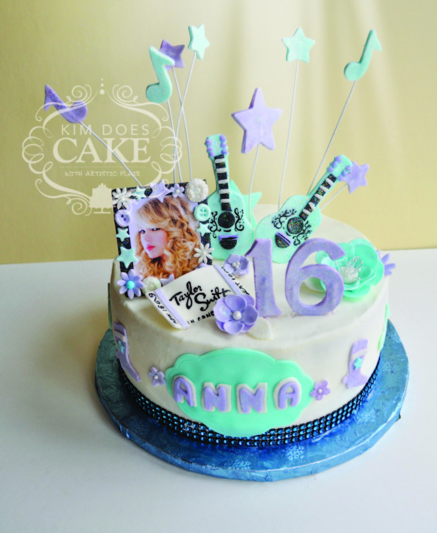Wondrous Taylor Swift Sweet 16 Cake Cakecentral Com Funny Birthday Cards Online Elaedamsfinfo