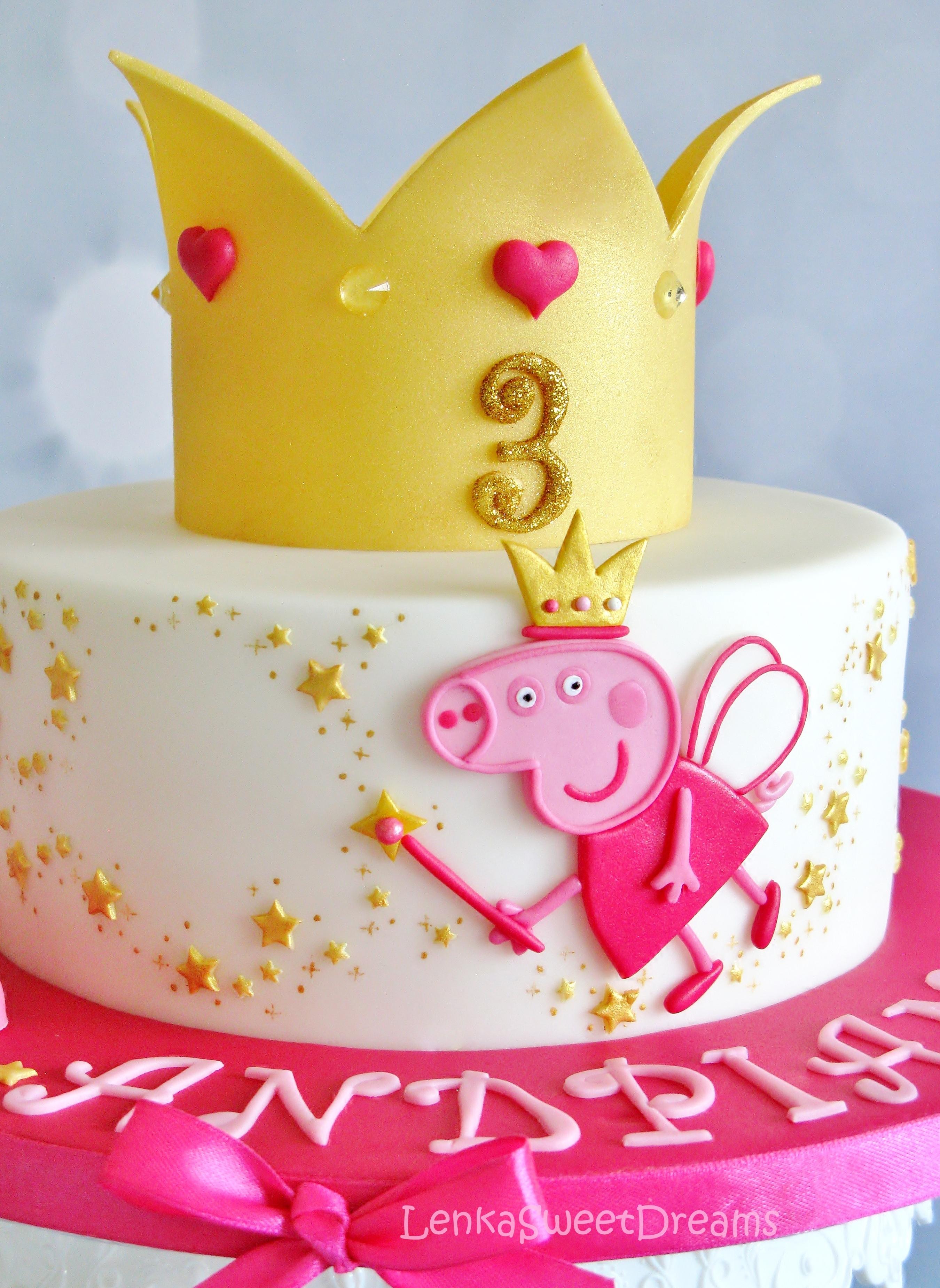 How To Make Princess Peppa Pig Cake