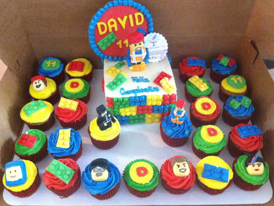 lego cakes and cupcakes