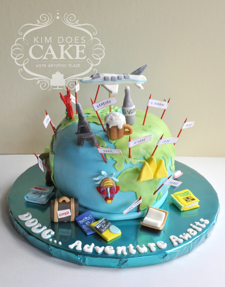 World Travel Retirement Cake CakeCentralcom