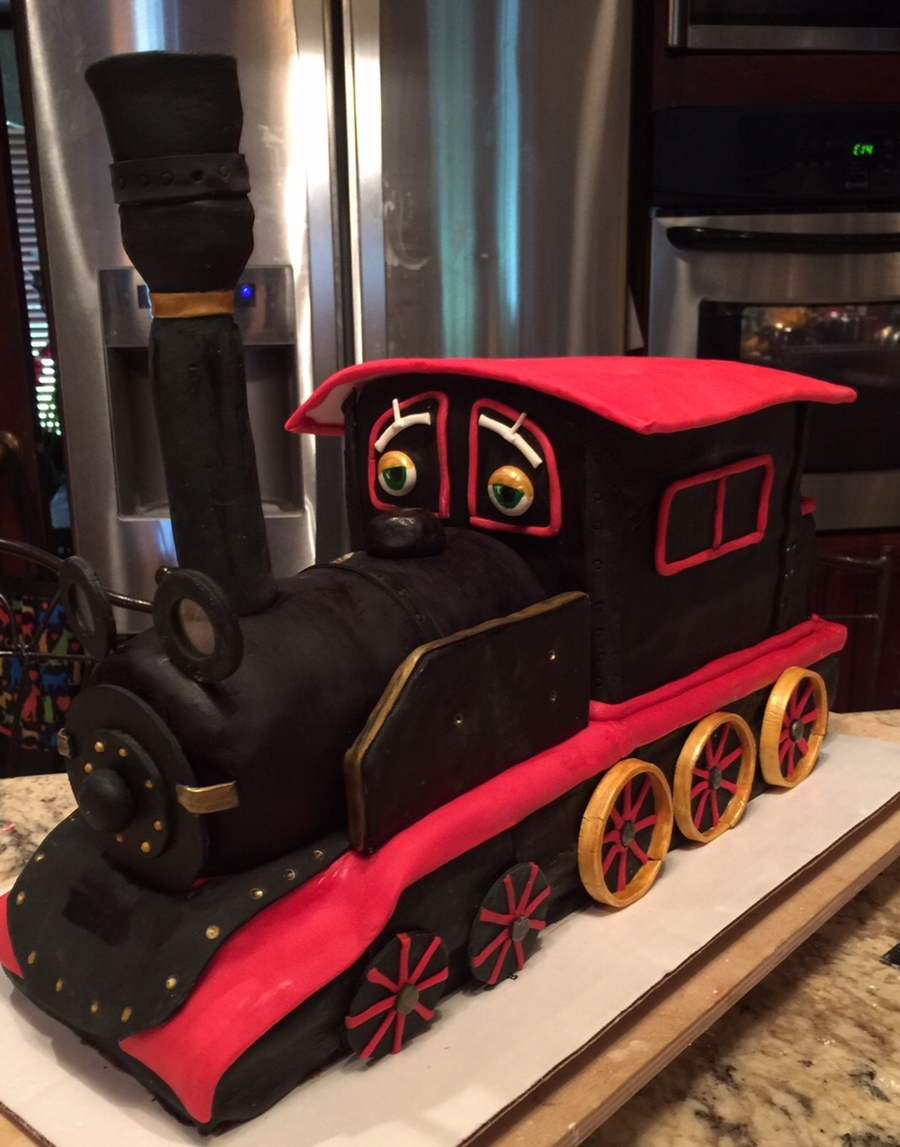 Chuggington Train Cake Old Puffer Pete Steam Engine