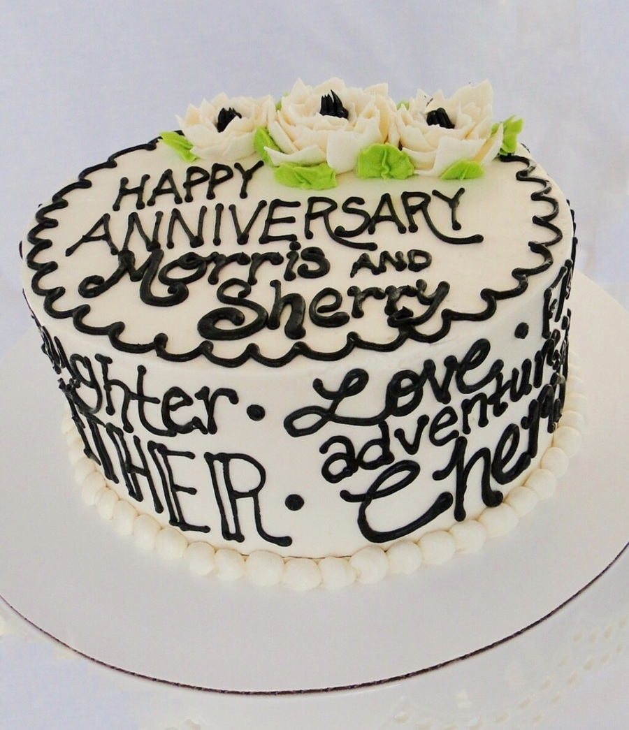 Decorating With Words anniversary words cake smbc - cakecentral