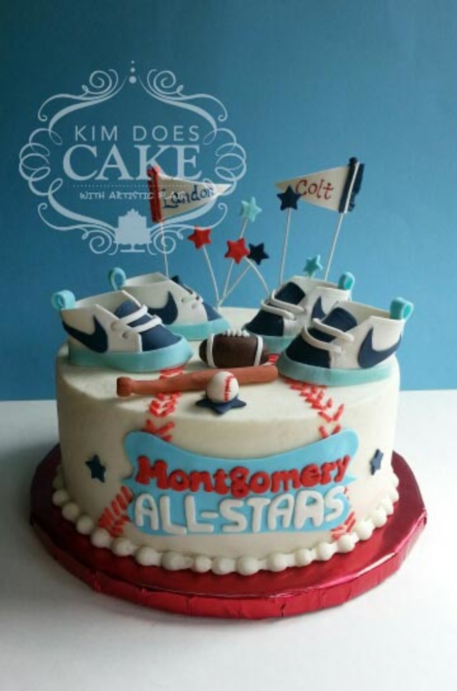 Twins Sports Baby Shower Cake On Cake Central