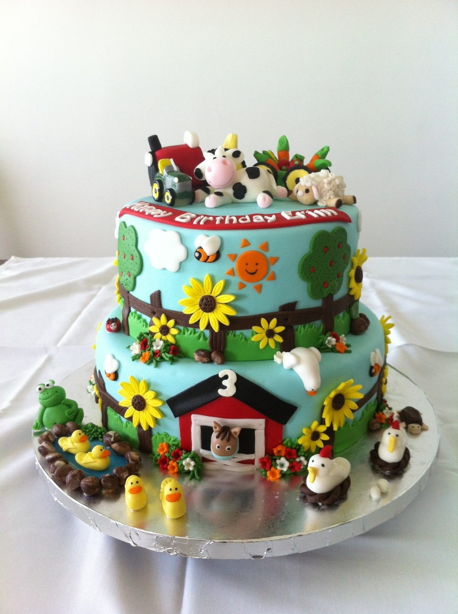 Farm Birthday Cake Recipe