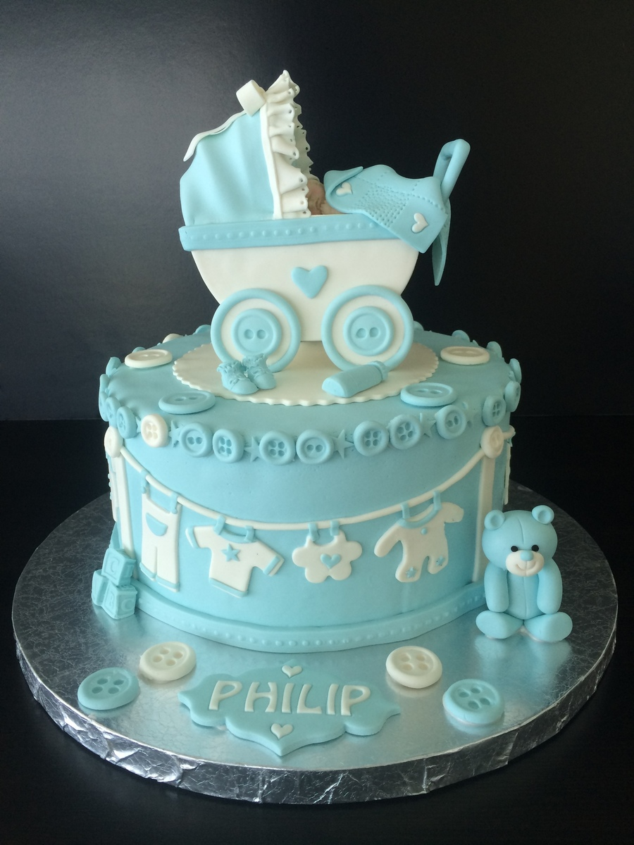Cake Decorating Baby Carriage : Baby Stroller Cake - CakeCentral.com