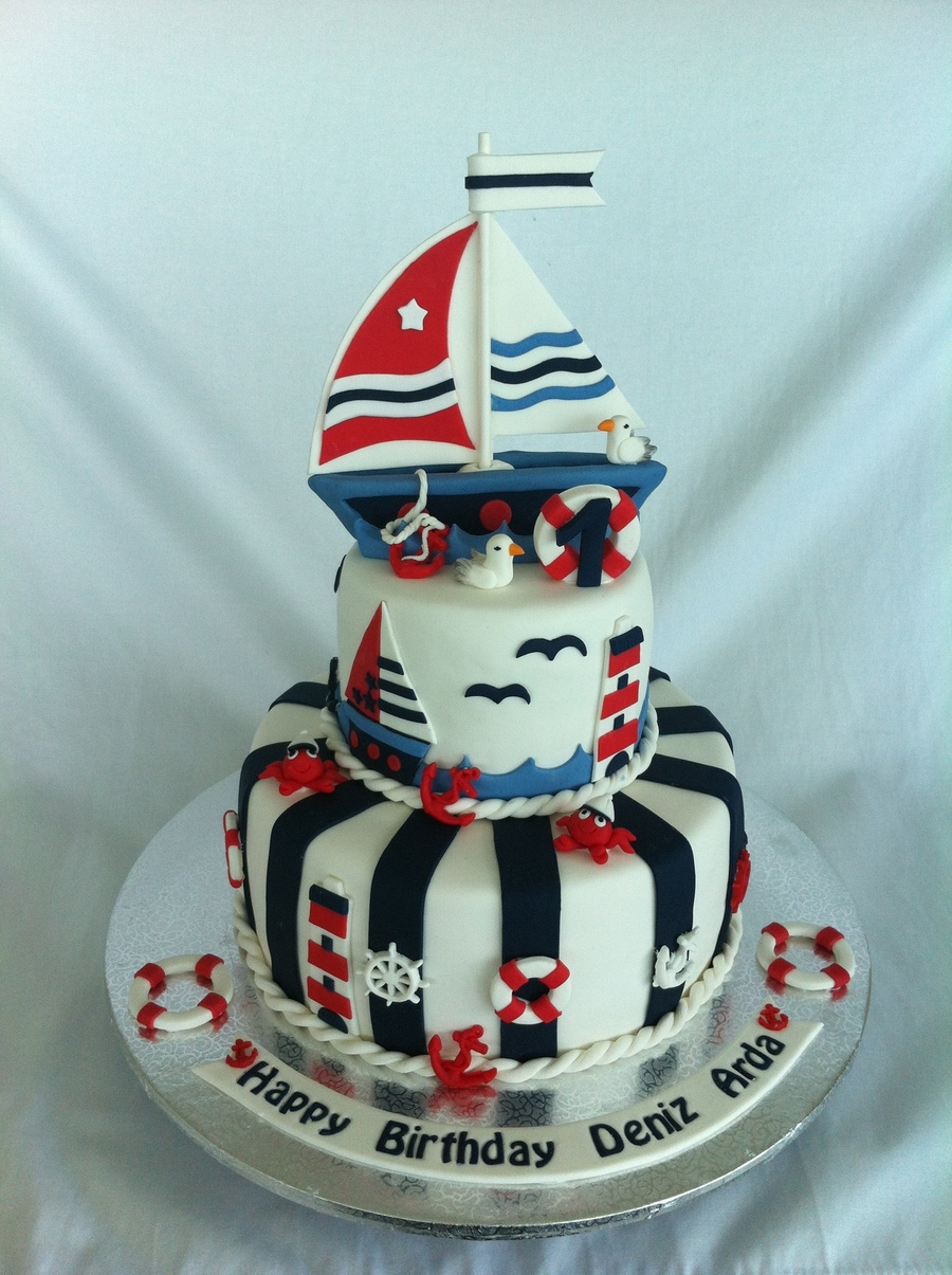 Nautical Sailboat Cake Cakecentral Com