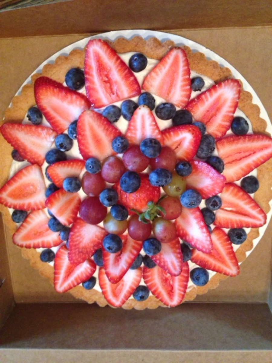 Fruit Pizza/tart on Cake Central