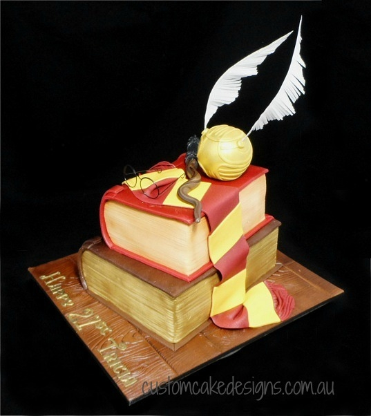 Cake Harry Potter Book : Harry Potter Stacked Books Cake - 2 Books - CakeCentral.com