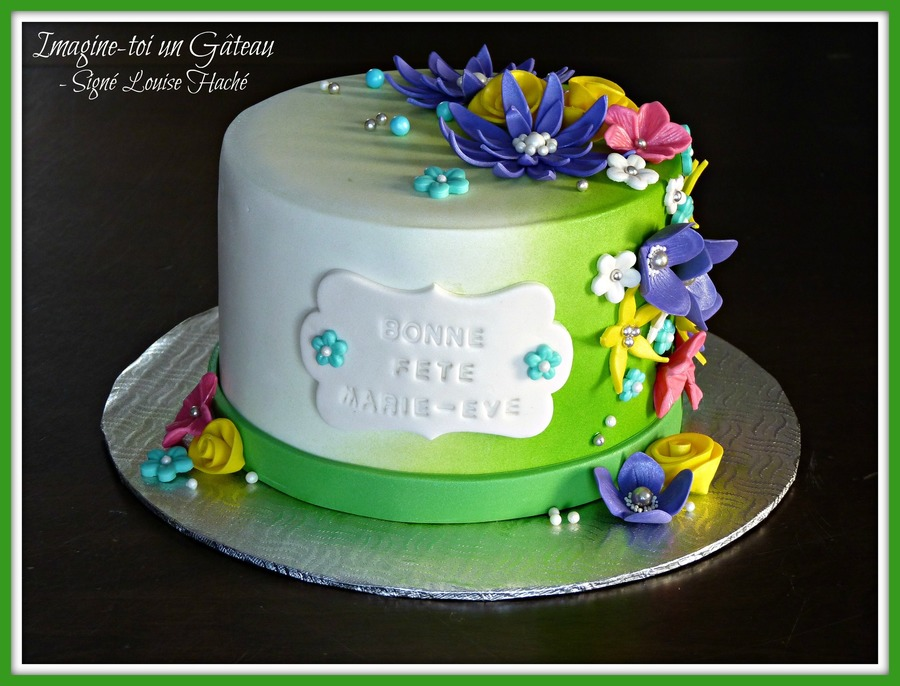 Spring Flowers Birthday Cake Cakecentral