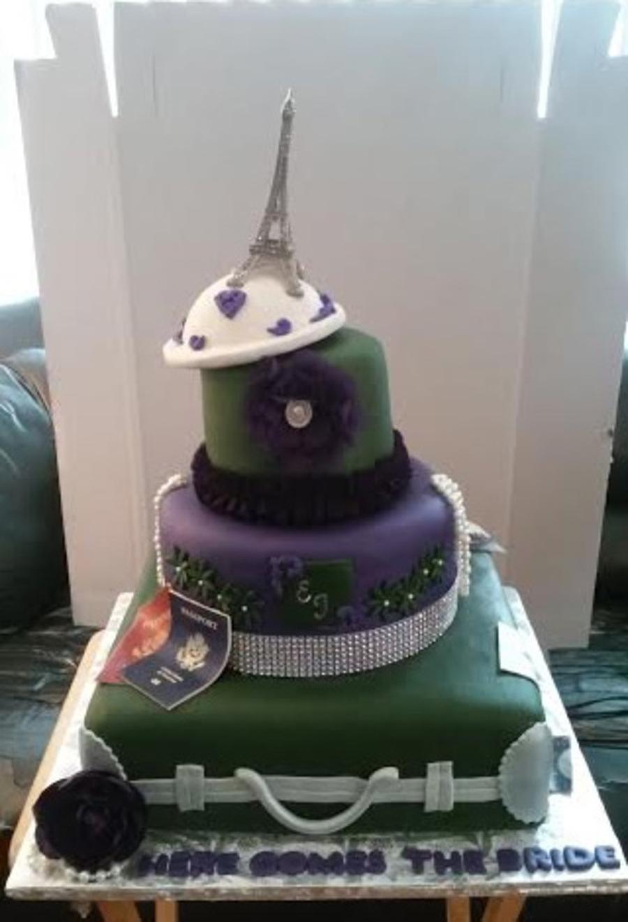 Paris Themed Bridal Shower Cake Cakecentral Com