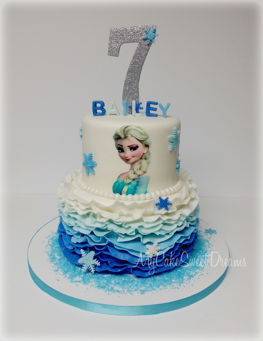 Frozen Themed Cake Cakecentral Com