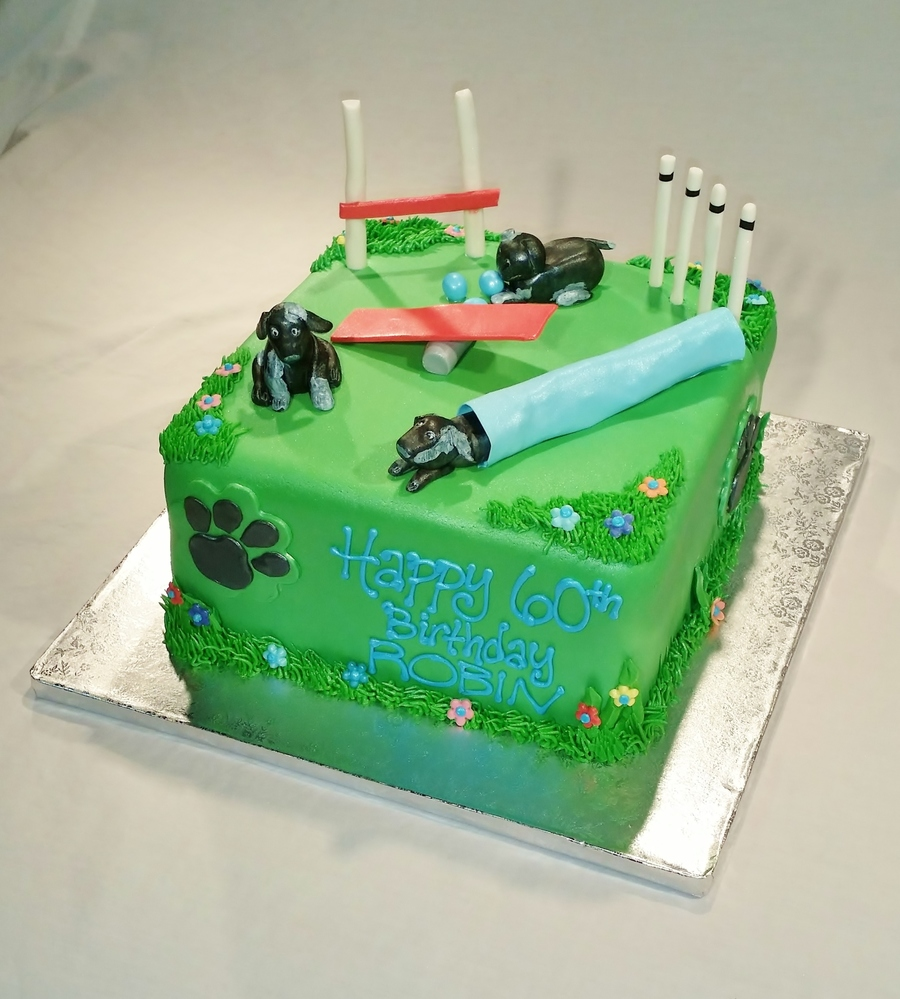 Dog Agility Course Cake on Cake Central