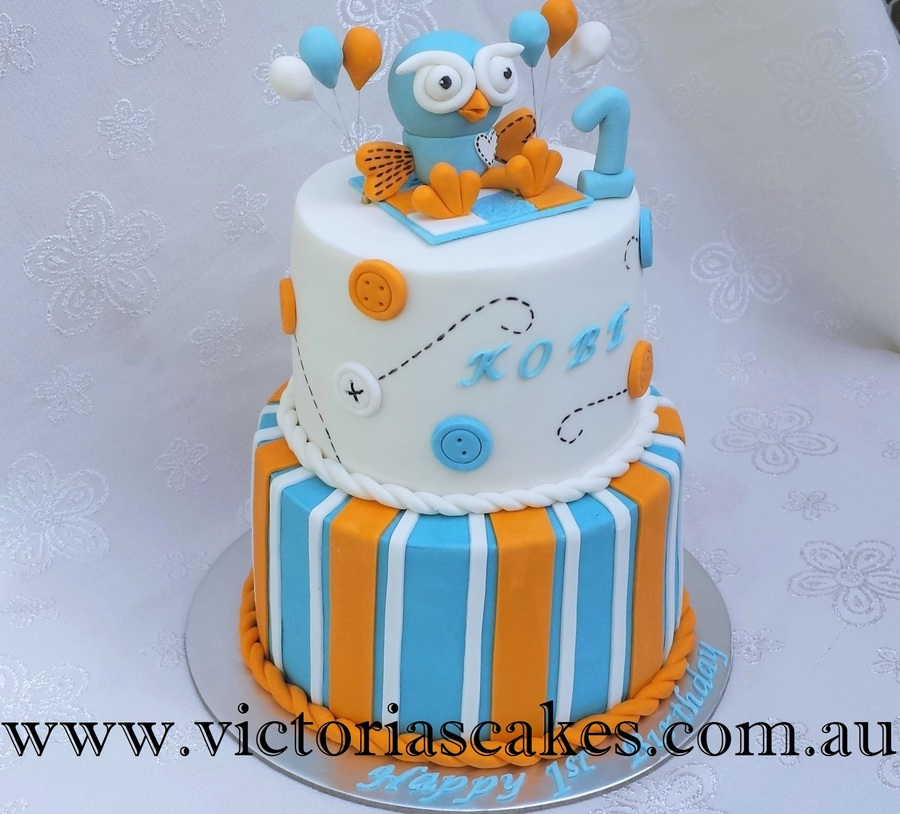 Giggle And Hoot 1st Birthday Cake Cakecentral Com