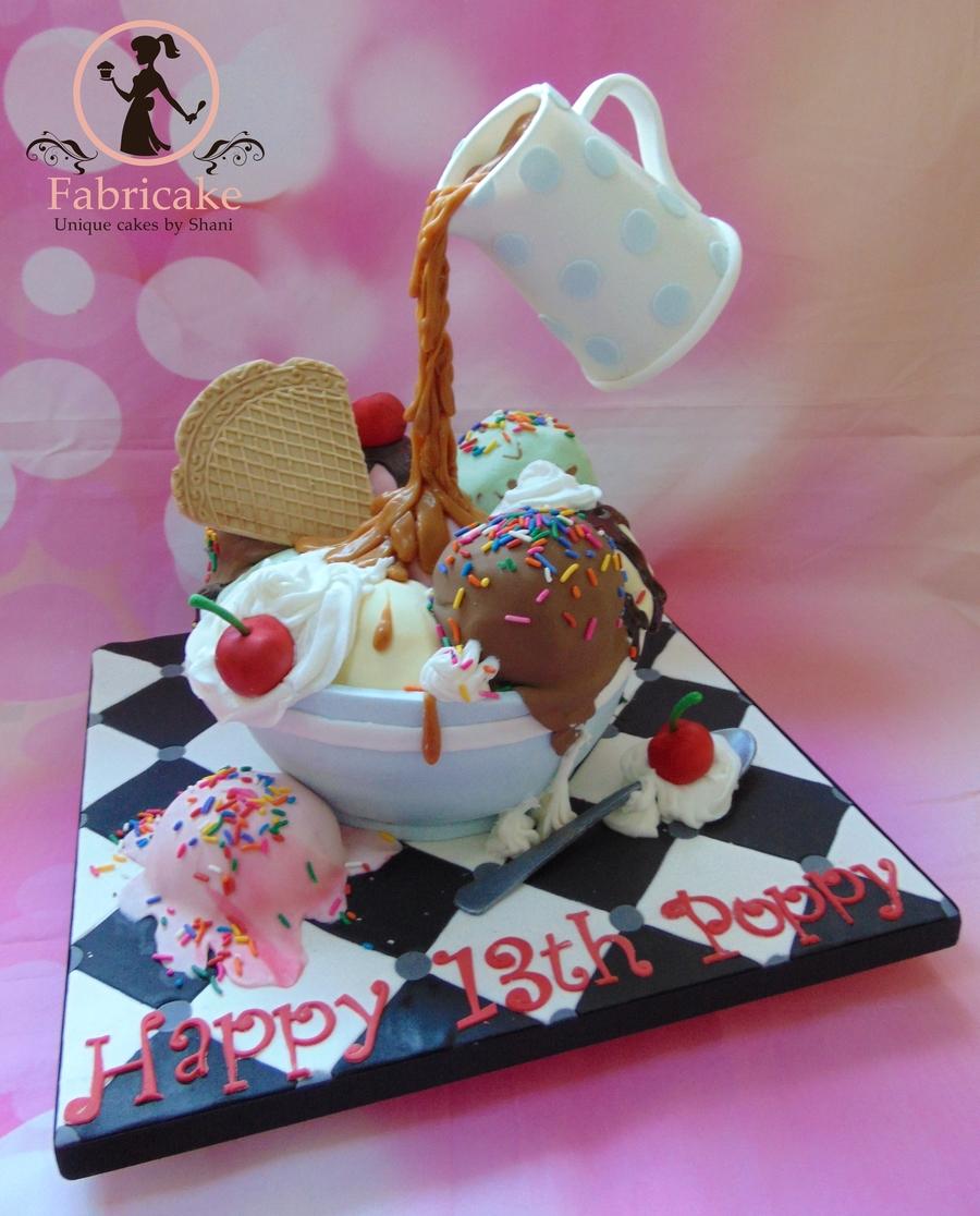 Giant Ice Cream Sundae Cake Cakecentral Com