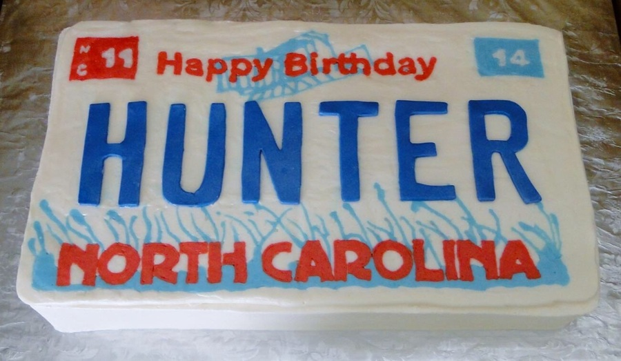 License Plate Birthday Cake