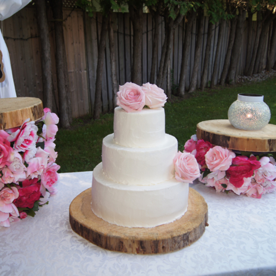 pink rose garden wedding cake 3 tier buttercream rustic garden wedding cake with fresh 18583